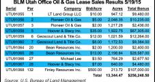 BLM Utah Lease Sale Proceeds Plunge