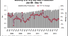 U.S. Natural Gas Production Hit Record High 30.2 Tcf in 2013