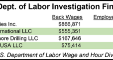 DOL Finds $1.6M in Back Wages Owed by Four Oil & Gas Companies