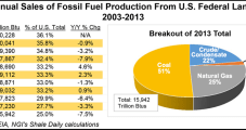 EIA: Fossil Fuel Production on Federal Lands Slowed