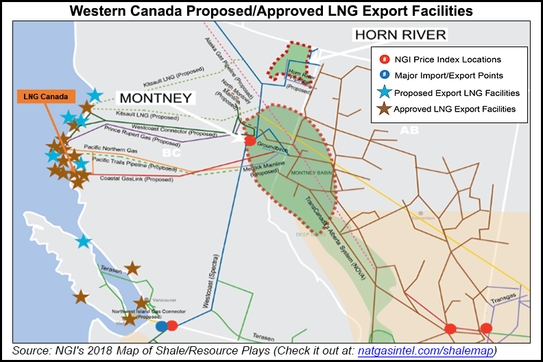 Western Canada Proposed / Approved LNG Export Facilities Map
