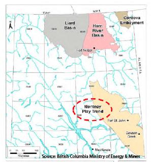 Horn River Basin BC Map