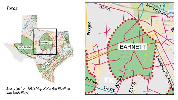 Barnett Shale map