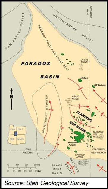 Paradox Basin Geography Map