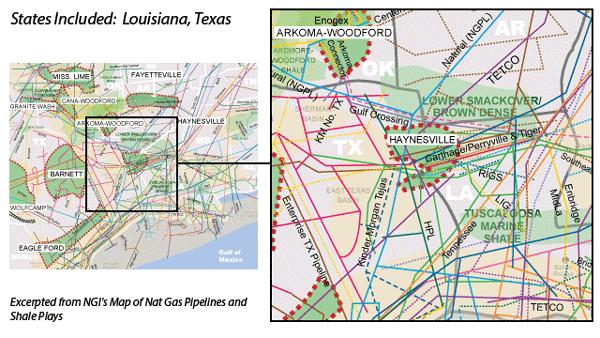 Haynesville Shale Map