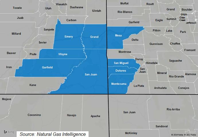 Paradox Basin Counties