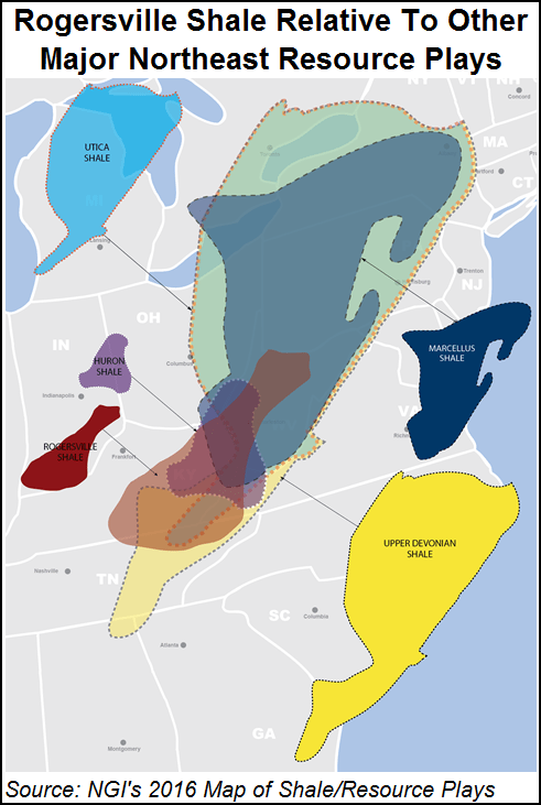 Rogersville Shale Map