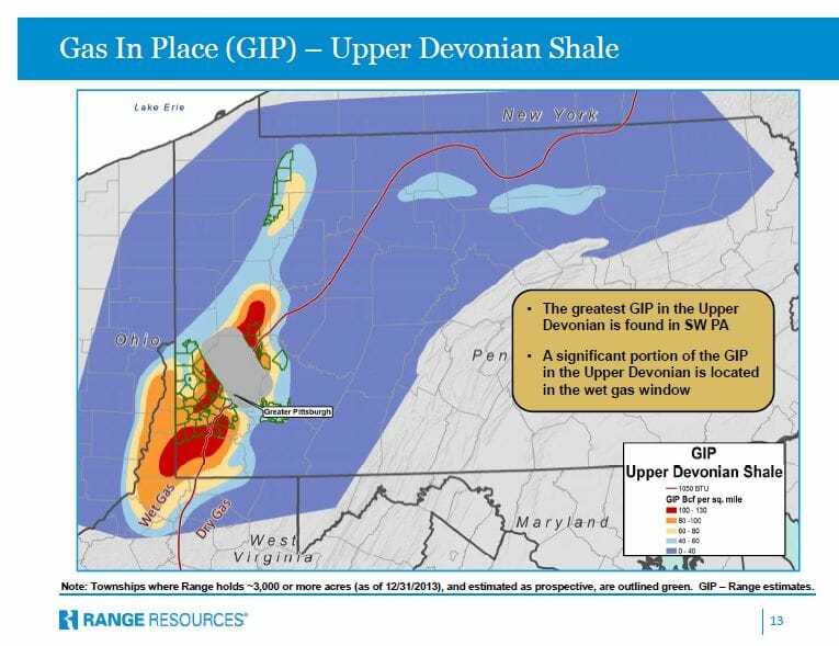 Upper Devonian/Huron Shales Gas In Place