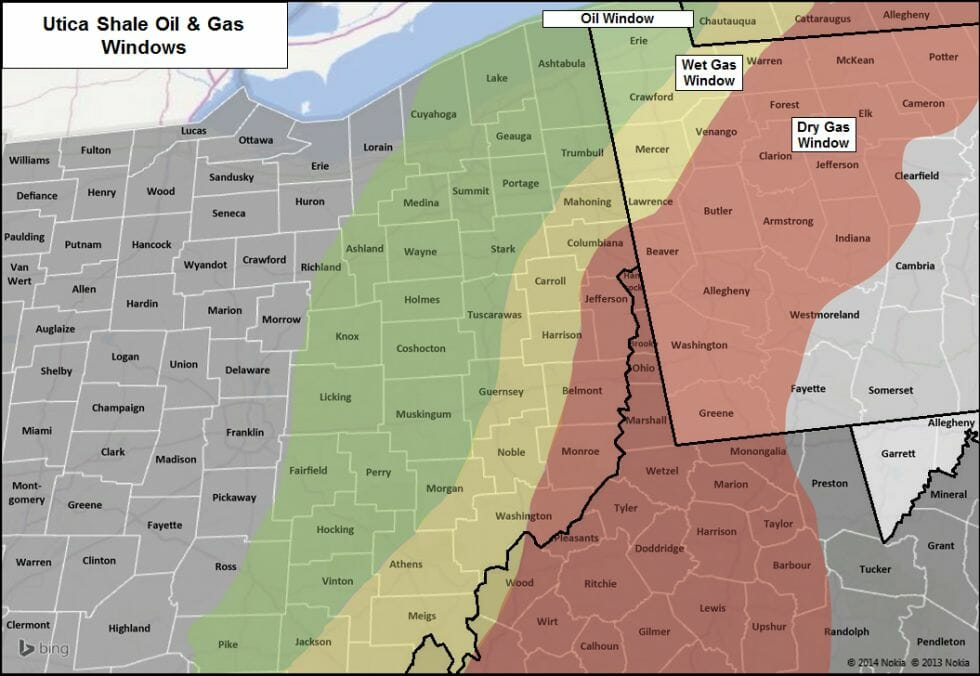 Utica Shale Oil & Gas Windows