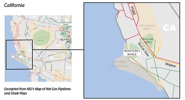 Monterey Shale map