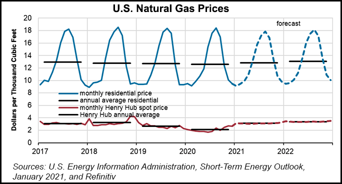steo natural gas prices