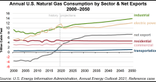 Most Long-term Natural Gas Demand Growth Seen Coming From Industrial Sector