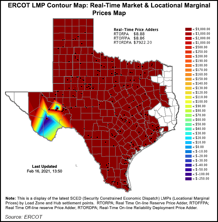 Texas power prices