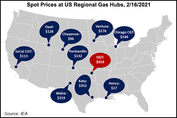 Texas freeze spot prices