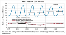 U.S. Natural Gas Prices Seen Flirting with $3 in February on LNG Strength, Storage Drawdown
