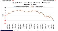 April Natural Gas Futures Falter Ahead of Storage Report, Looming Spring Temperatures; Cash Cruises