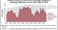 Decline at Oklahoma's Cushing Hub Leads Downward Slide in U.S. Oil Stocks, EIA Says